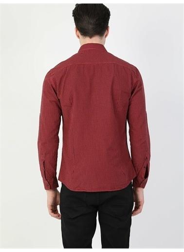 Colin's CL1028207_Q1.V1_RED  Slim Fit Shirt Neck Erkek Kırmızı Uzun Kol Gömlek Kırmızı